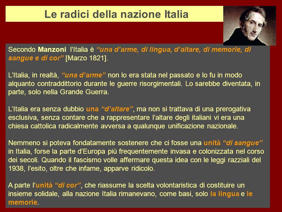 Le radici della nazione Italia