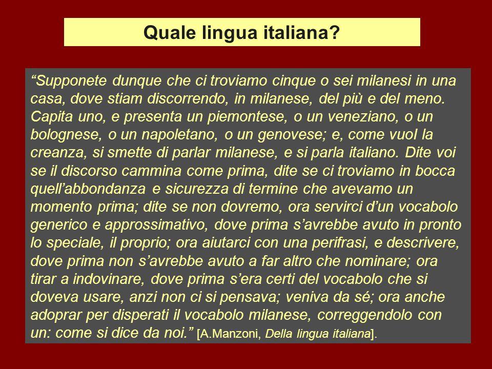 Quale lingua italiana