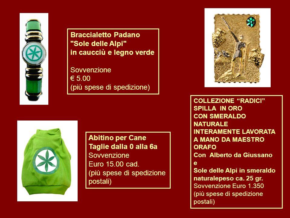 Braccialetto Padano Sole delle Alpi in caucciù e legno verde