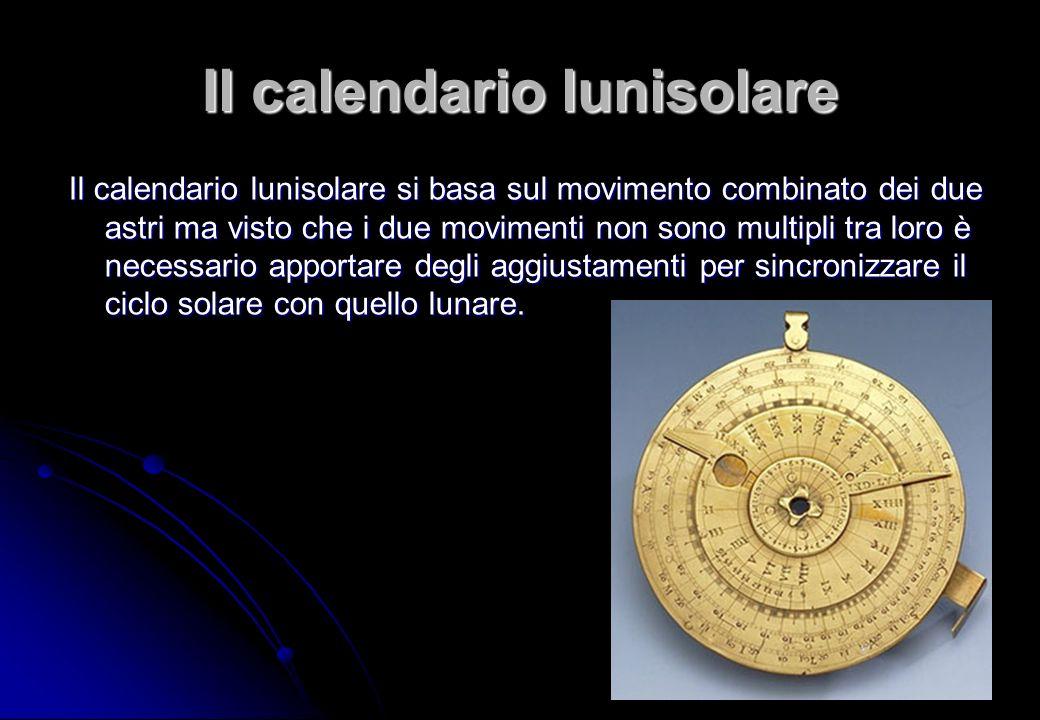 Il calendario lunisolare