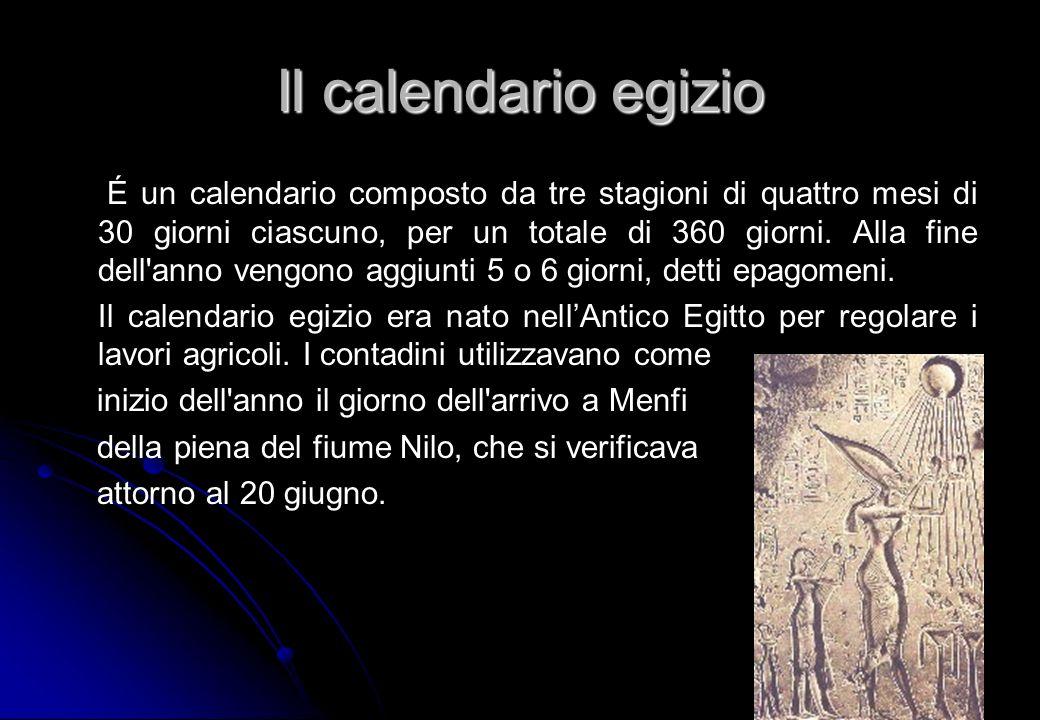 Il calendario egizio