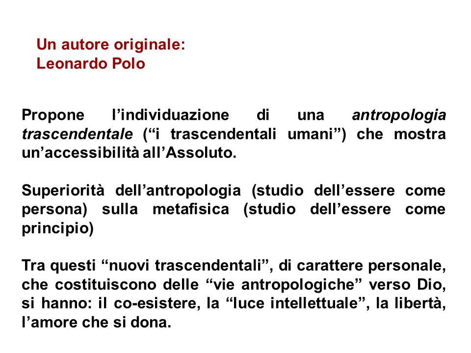Un autore originale: Leonardo Polo