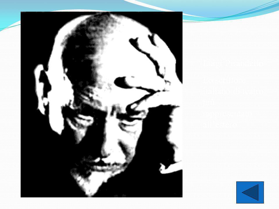 Luigi Pirandello Lo scrittore italiano di teatro più rappresentato all'estero