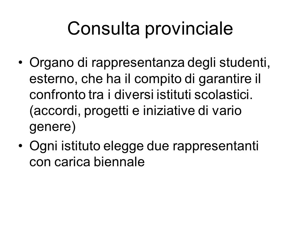 Consulta provinciale
