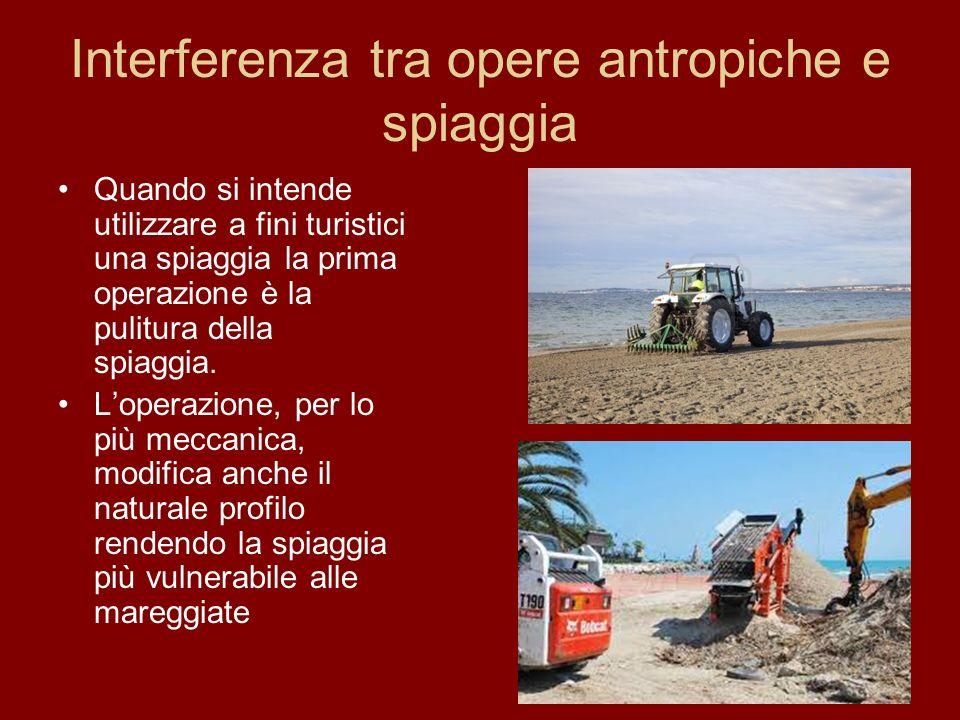 Interferenza tra opere antropiche e spiaggia