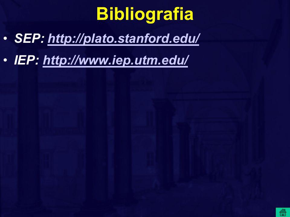 Bibliografia SEP: http://plato.stanford.edu/