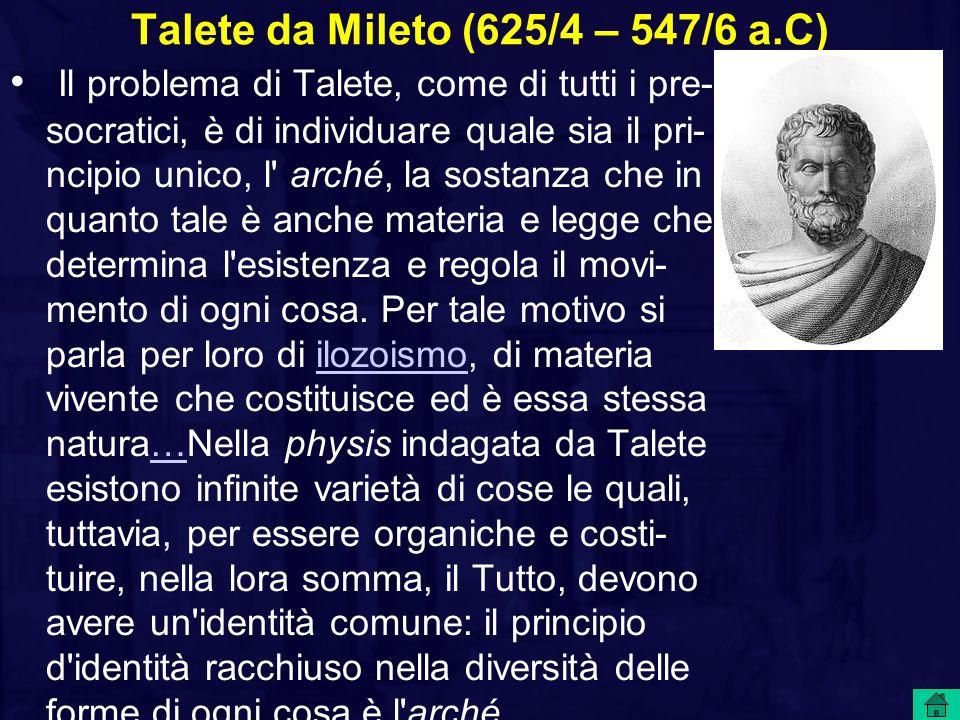 Talete da Mileto (625/4 – 547/6 a.C)