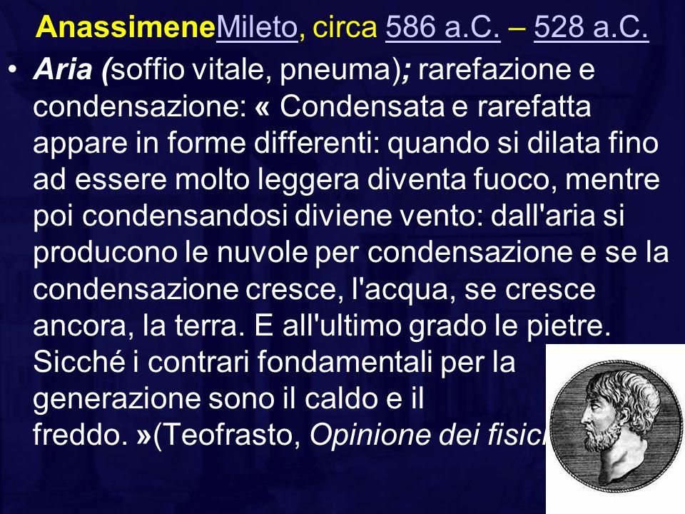 AnassimeneMileto, circa 586 a.C. – 528 a.C.
