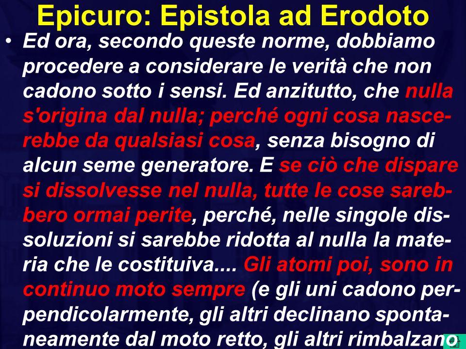 Epicuro: Epistola ad Erodoto