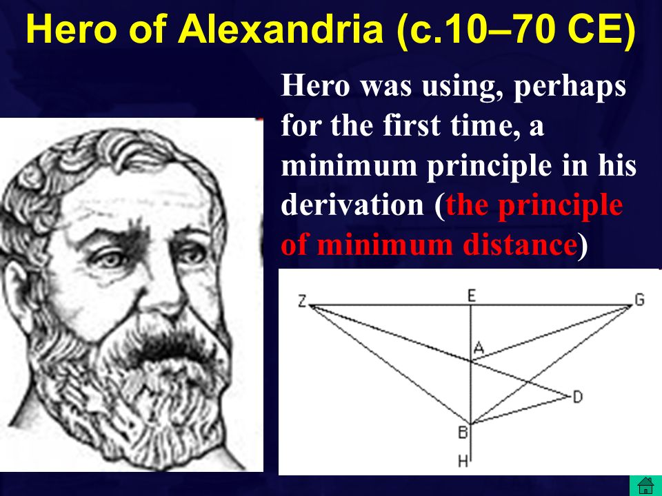 Hero of Alexandria (c.10–70 CE)