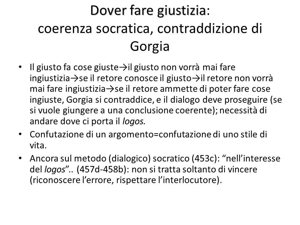Dover fare giustizia: coerenza socratica, contraddizione di Gorgia