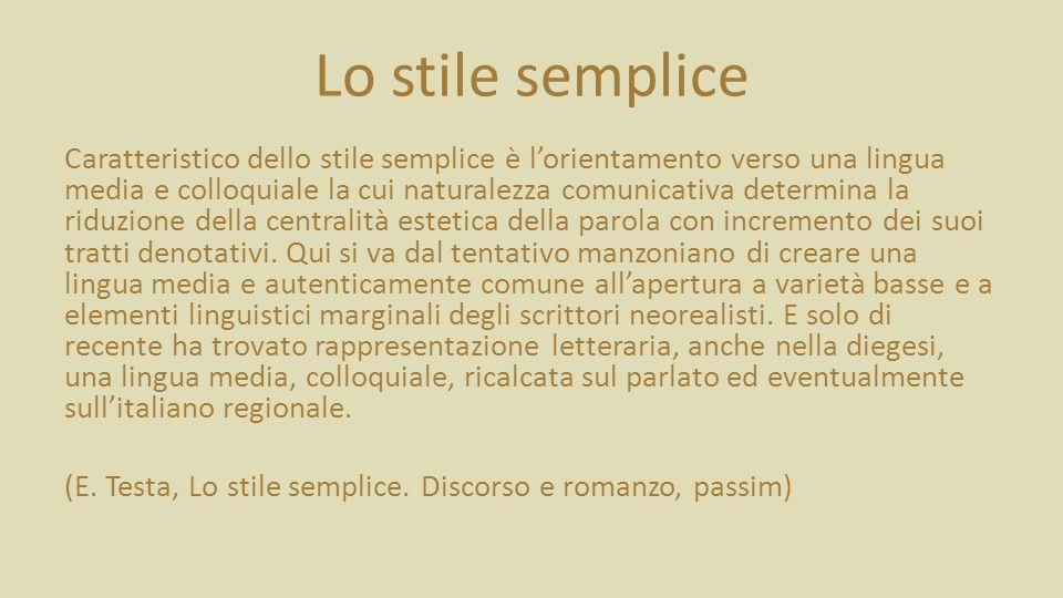 Lo stile semplice