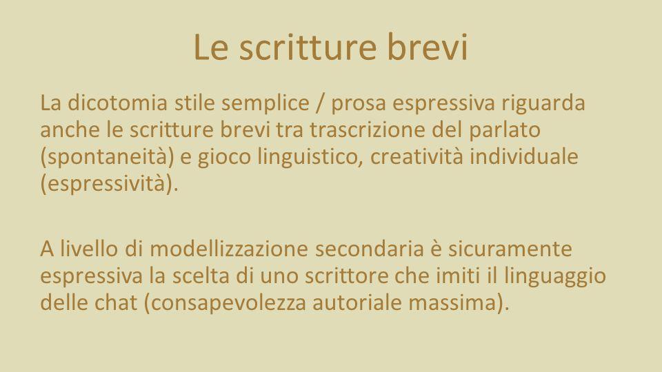 Le scritture brevi