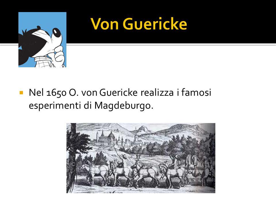 Von Guericke Nel 1650 O. von Guericke realizza i famosi esperimenti di Magdeburgo.