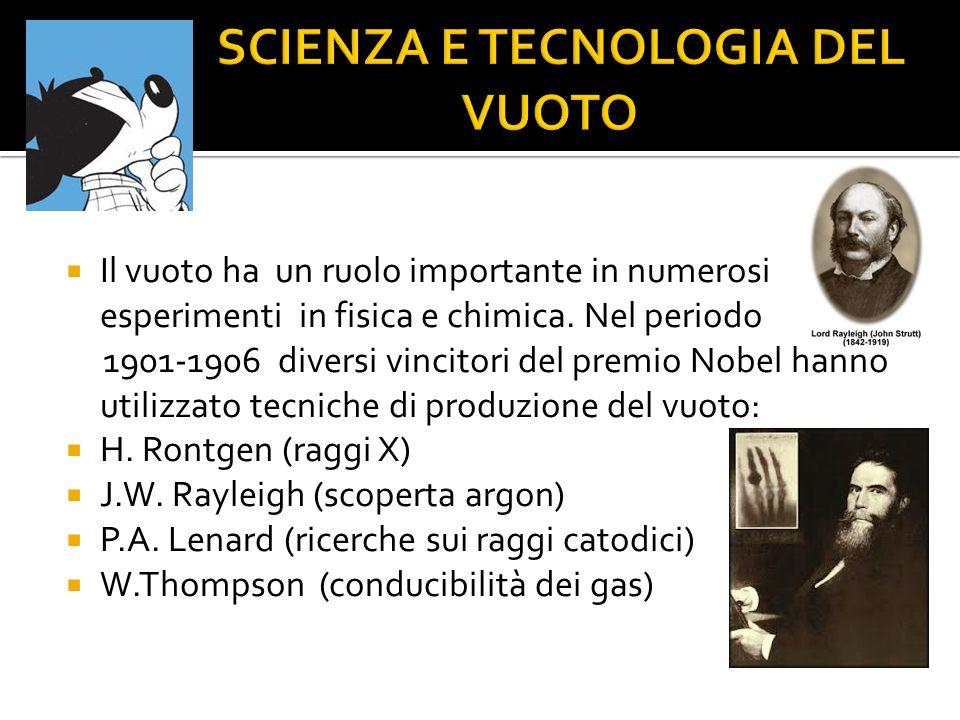 SCIENZA E TECNOLOGIA DEL VUOTO