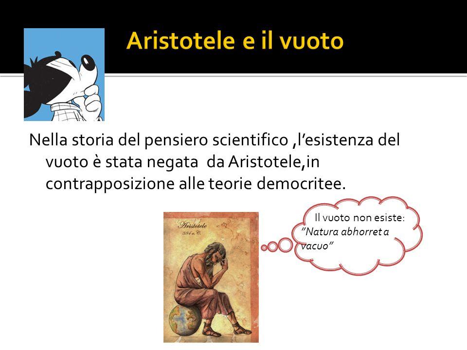 Aristotele e il vuoto