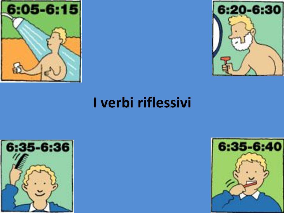 I verbi riflessivi