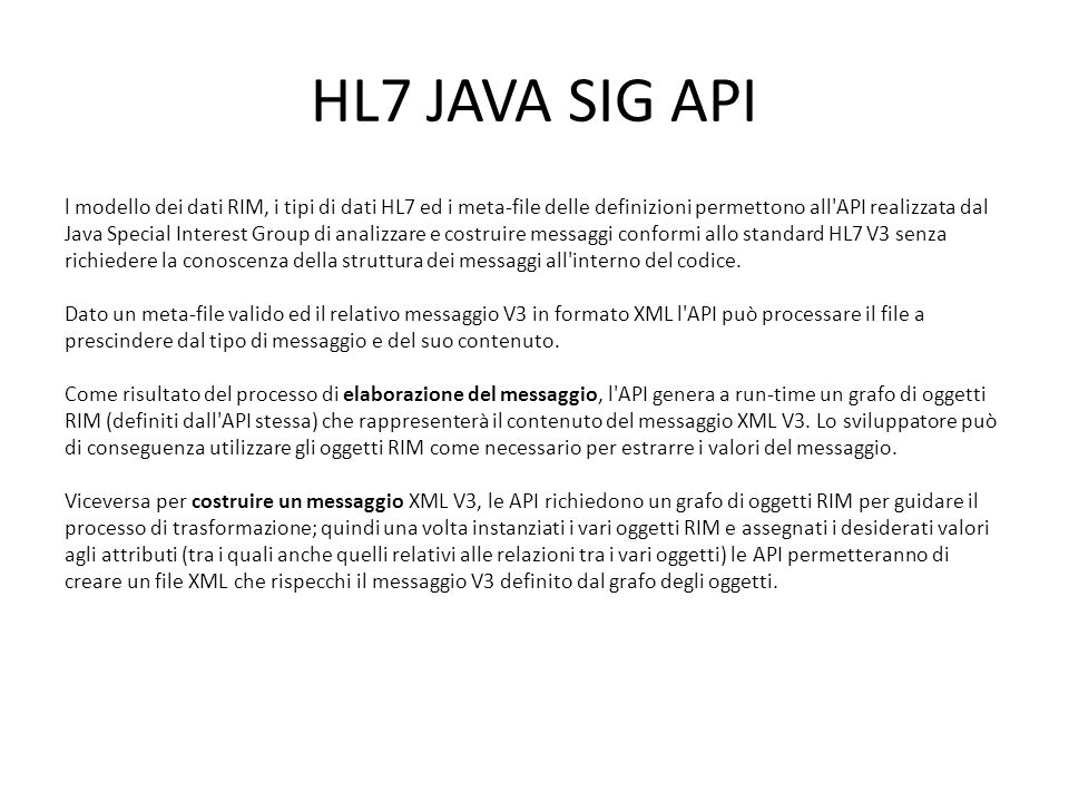 HL7 JAVA SIG API