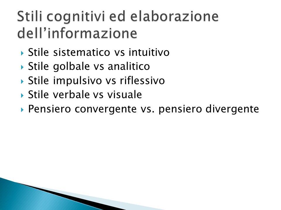 Stili cognitivi ed elaborazione dell'informazione