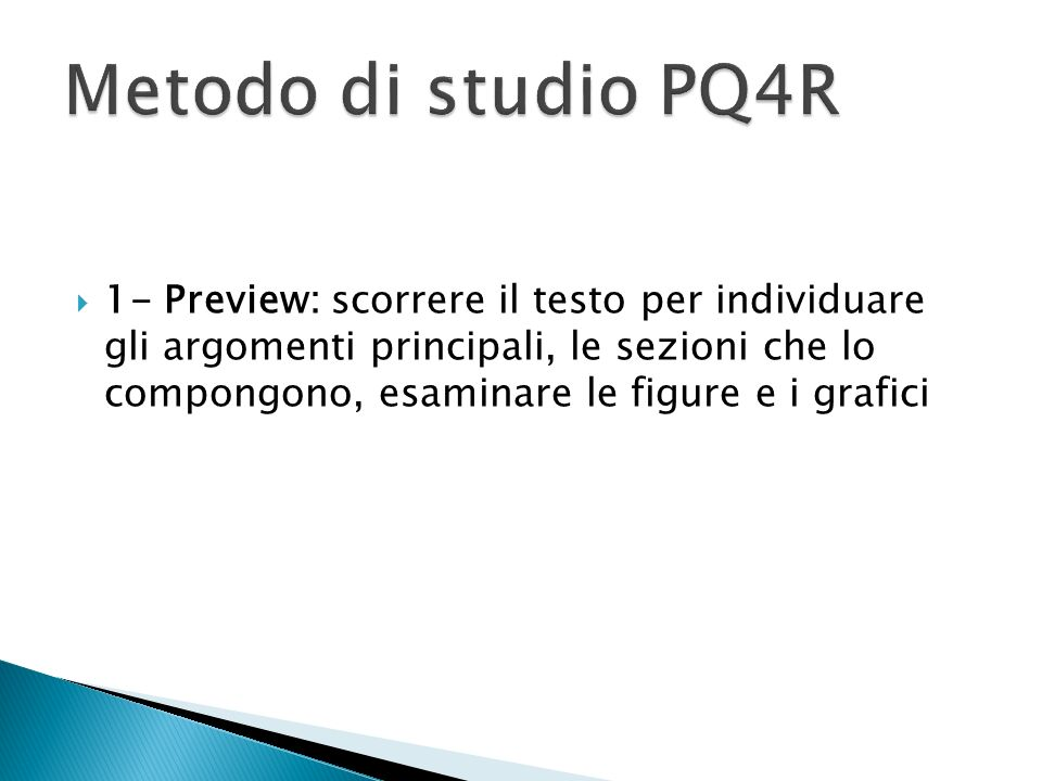Metodo di studio PQ4R