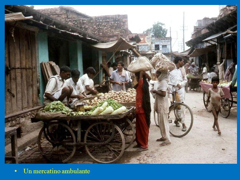 Un mercatino ambulante