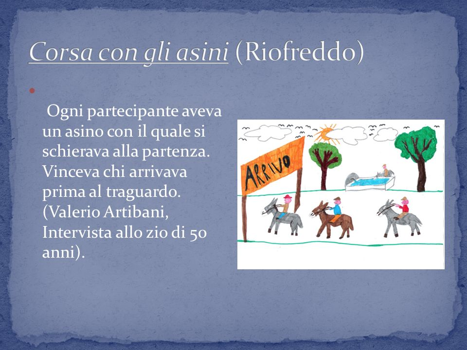 Corsa con gli asini (Riofreddo)
