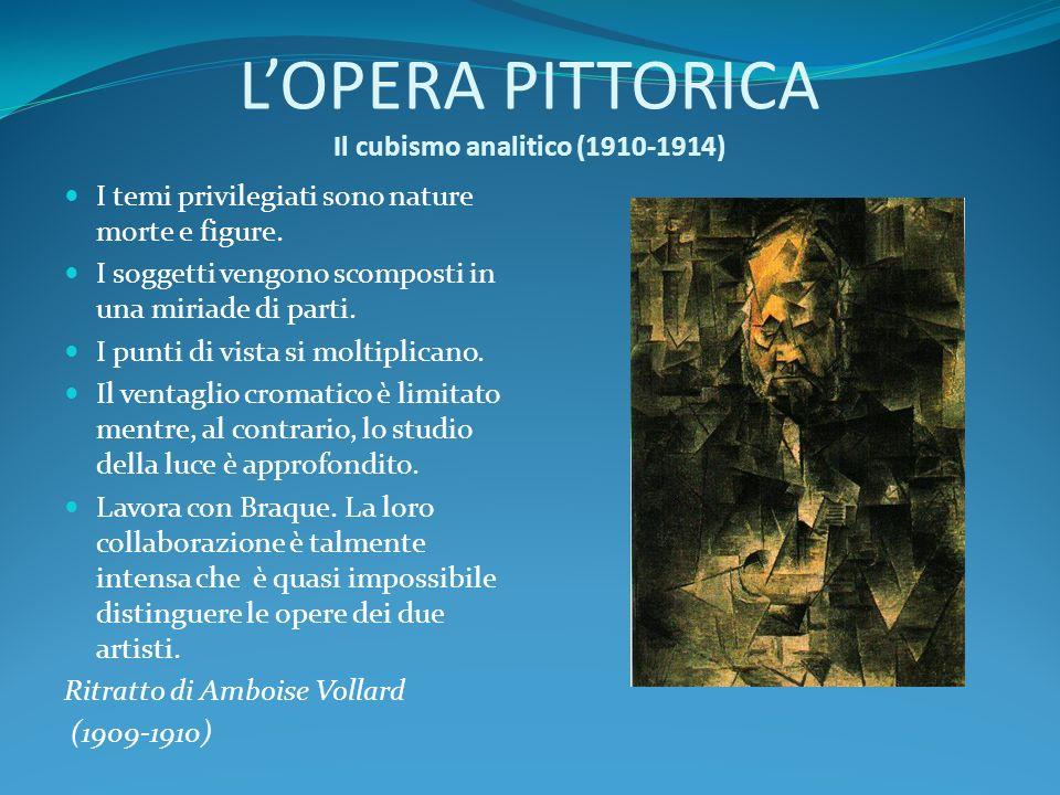 L'OPERA PITTORICA Il cubismo analitico (1910-1914)