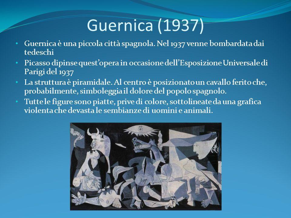 Guernica (1937) Guernica è una piccola città spagnola. Nel 1937 venne bombardata dai tedeschi.