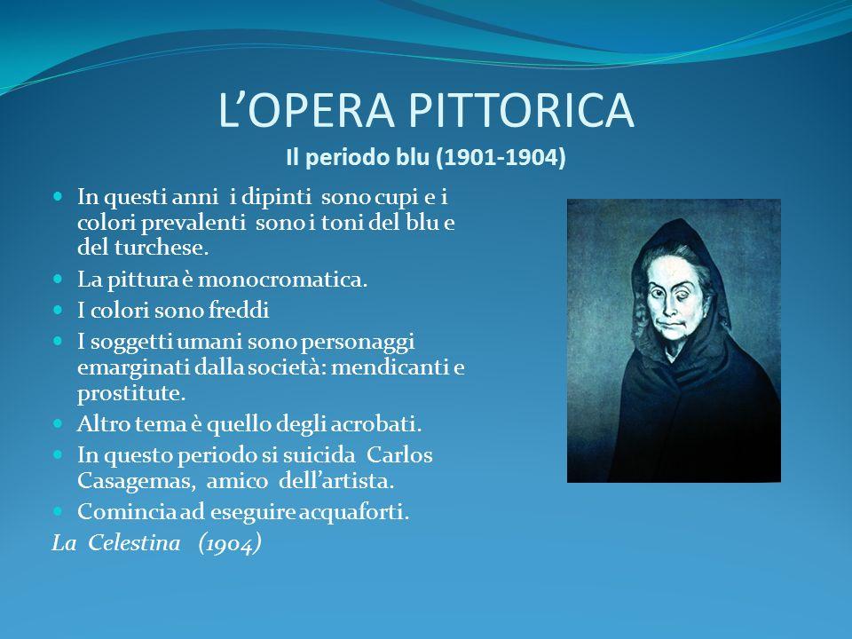 L'OPERA PITTORICA Il periodo blu (1901-1904)