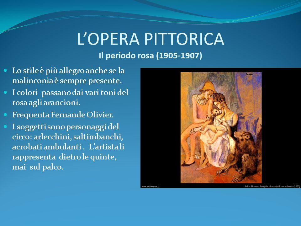 L'OPERA PITTORICA Il periodo rosa (1905-1907)