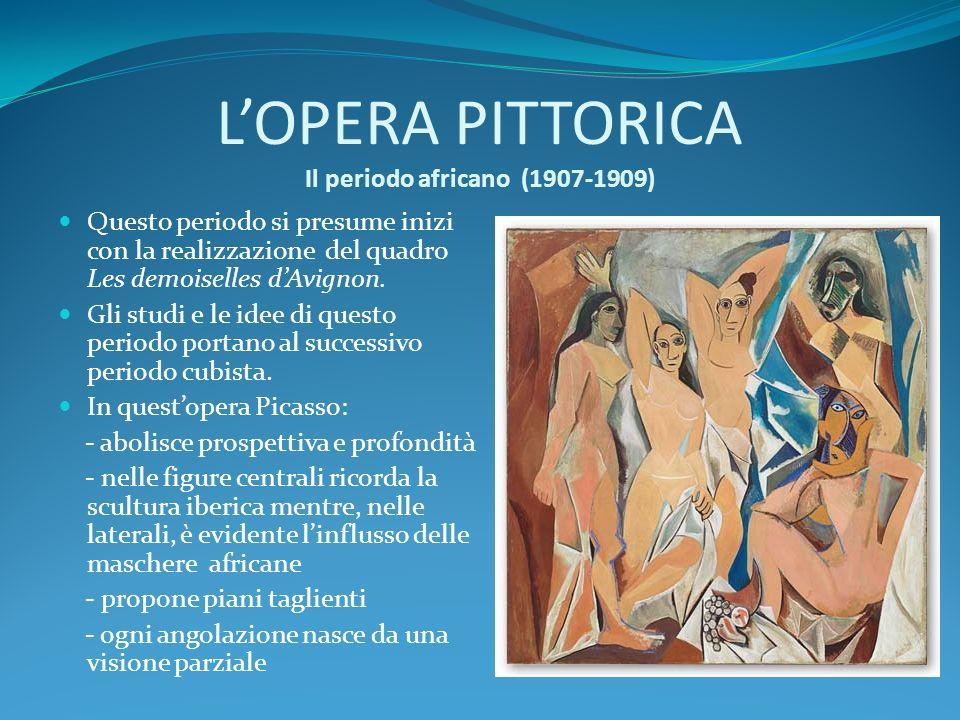 L'OPERA PITTORICA Il periodo africano (1907-1909)