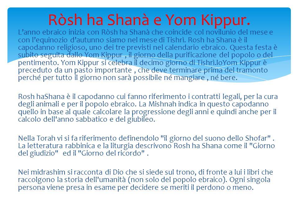 Ròsh ha Shanà e Yom Kippur.