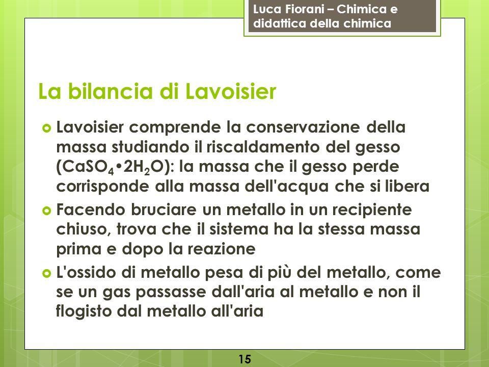 La bilancia di Lavoisier