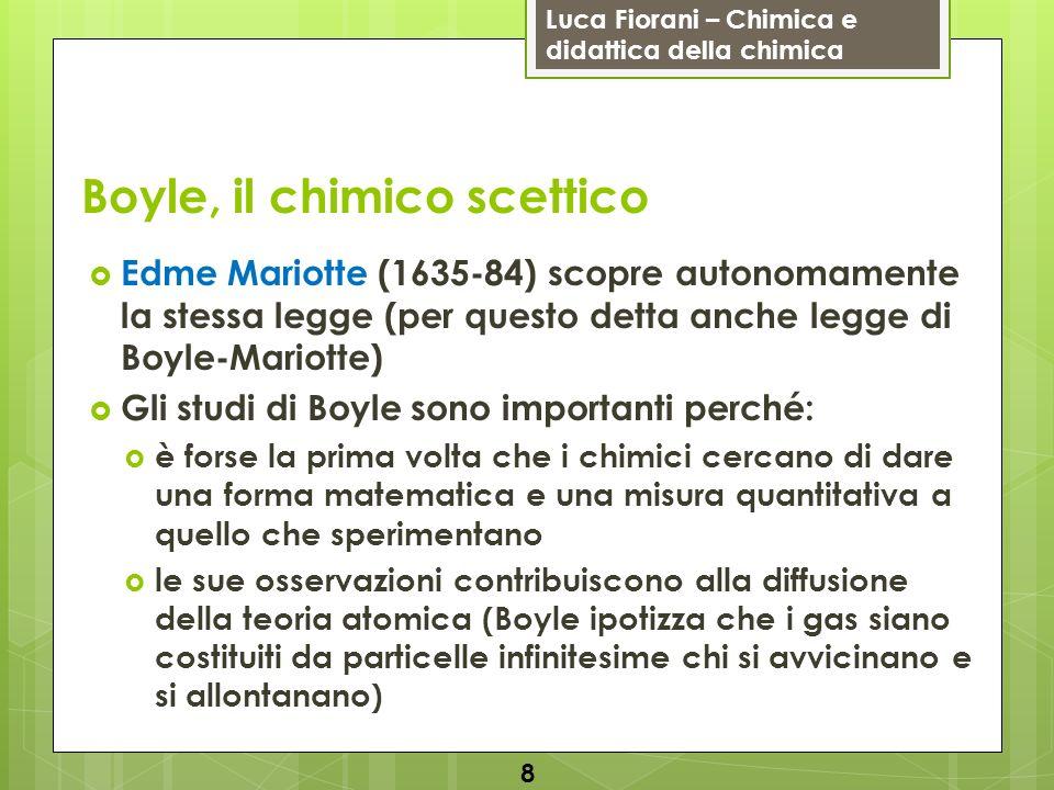Boyle, il chimico scettico