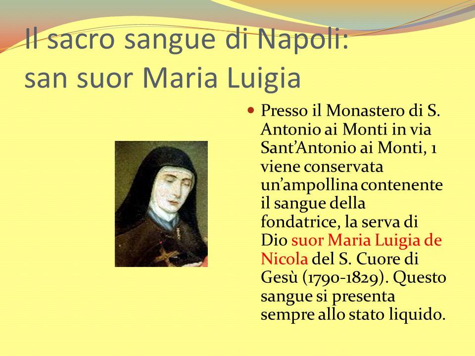 Il sacro sangue di Napoli: san suor Maria Luigia