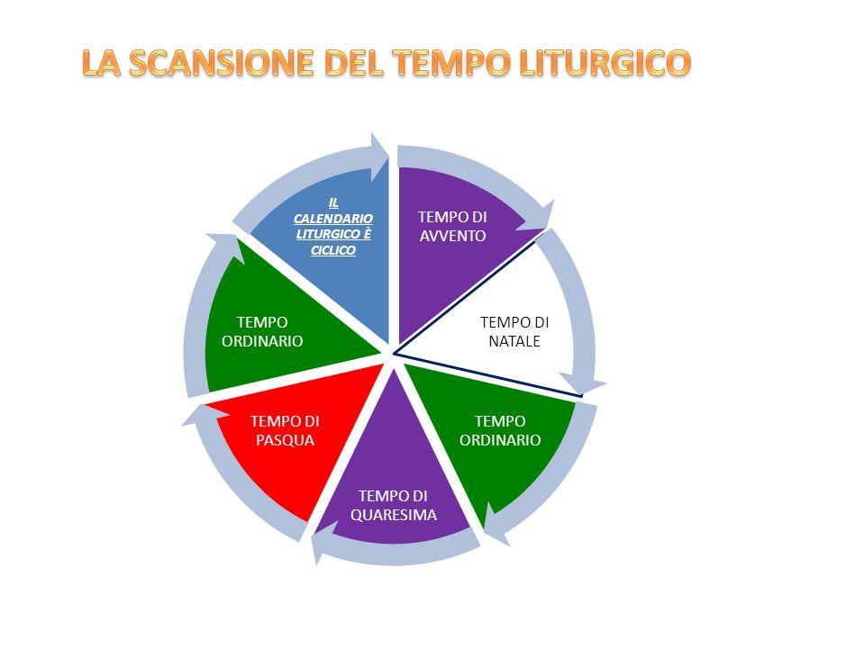 LA SCANSIONE DEL TEMPO LITURGICO