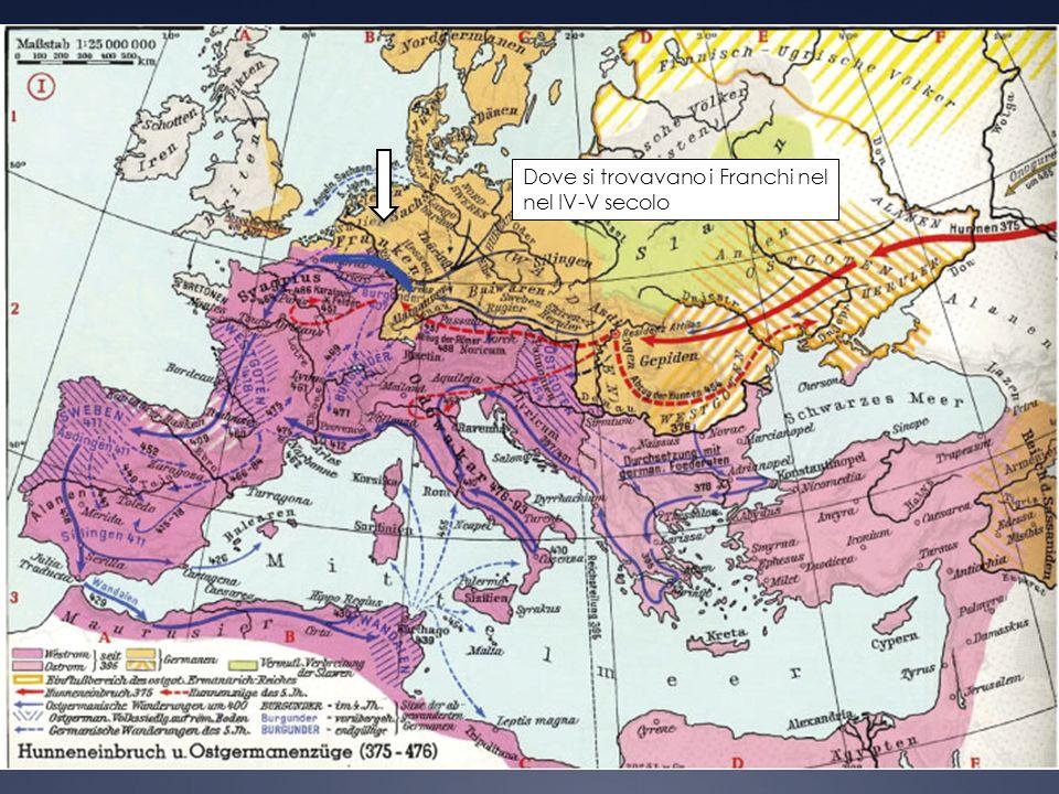 Dove si trovavano i Franchi nel nel IV-V secolo