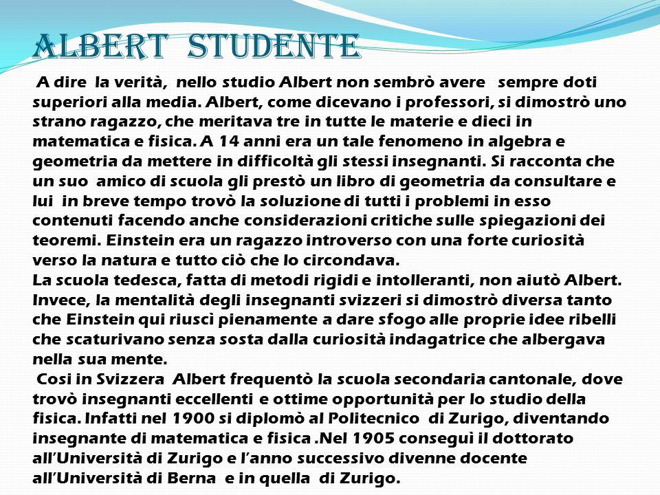 Albert studente