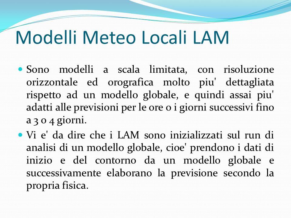 Modelli Meteo Locali LAM