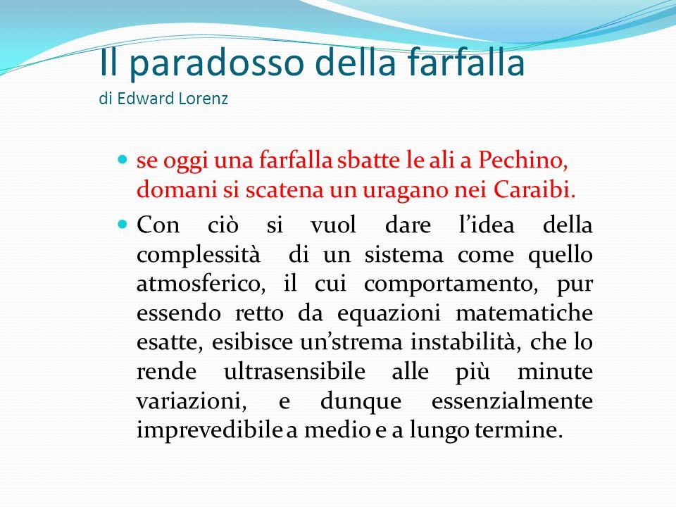 Il paradosso della farfalla di Edward Lorenz