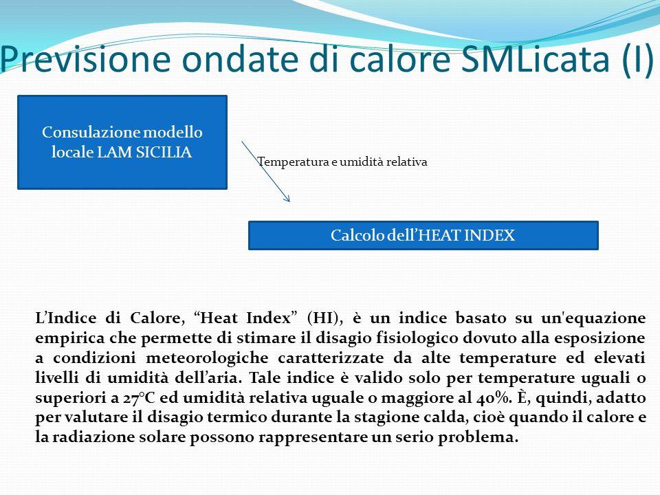 Previsione ondate di calore SMLicata (I)