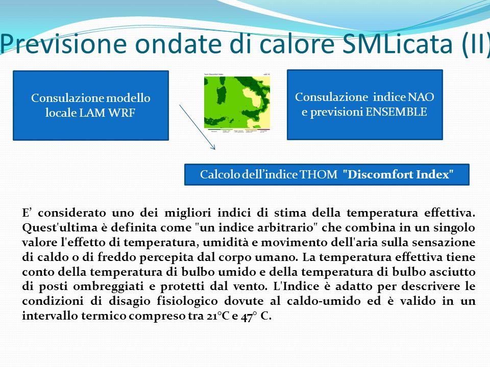 Previsione ondate di calore SMLicata (II)
