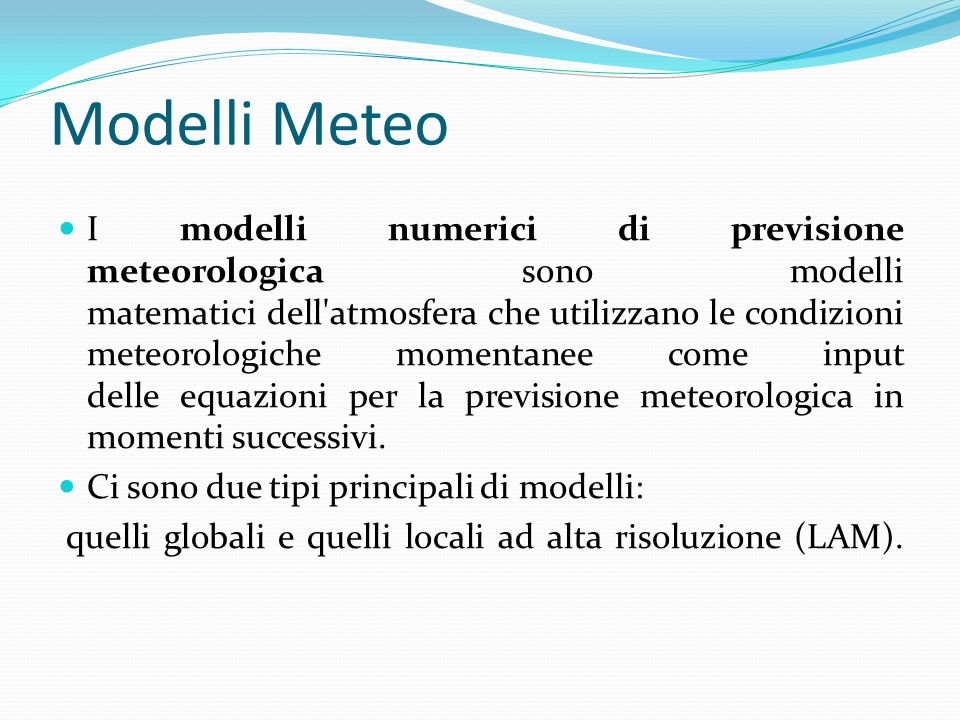 Modelli Meteo