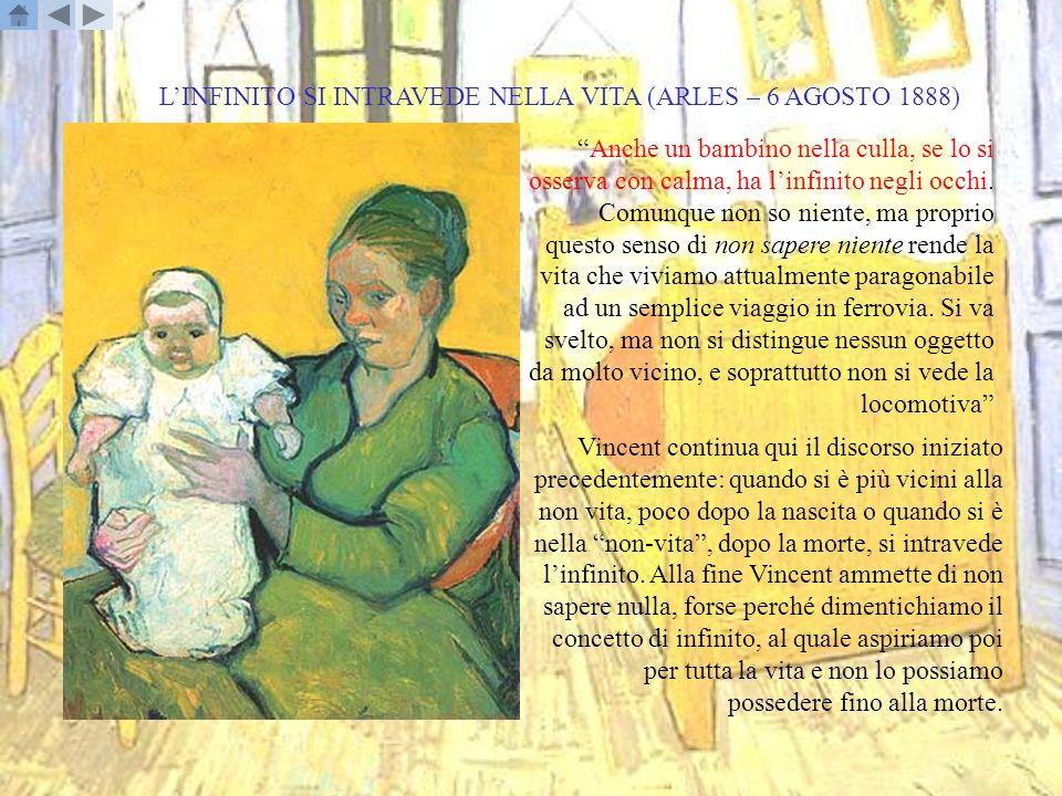 L'INFINITO SI INTRAVEDE NELLA VITA (ARLES – 6 AGOSTO 1888)