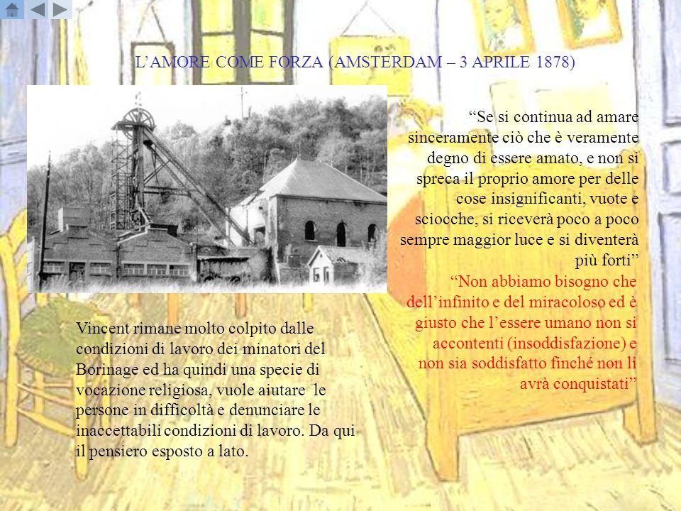 L'AMORE COME FORZA (AMSTERDAM – 3 APRILE 1878)
