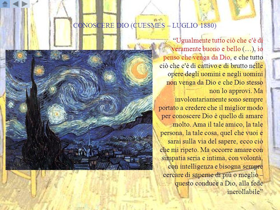 CONOSCERE DIO (CUESMES – LUGLIO 1880)