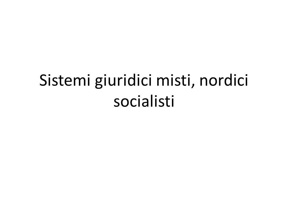 Sistemi giuridici misti, nordici socialisti