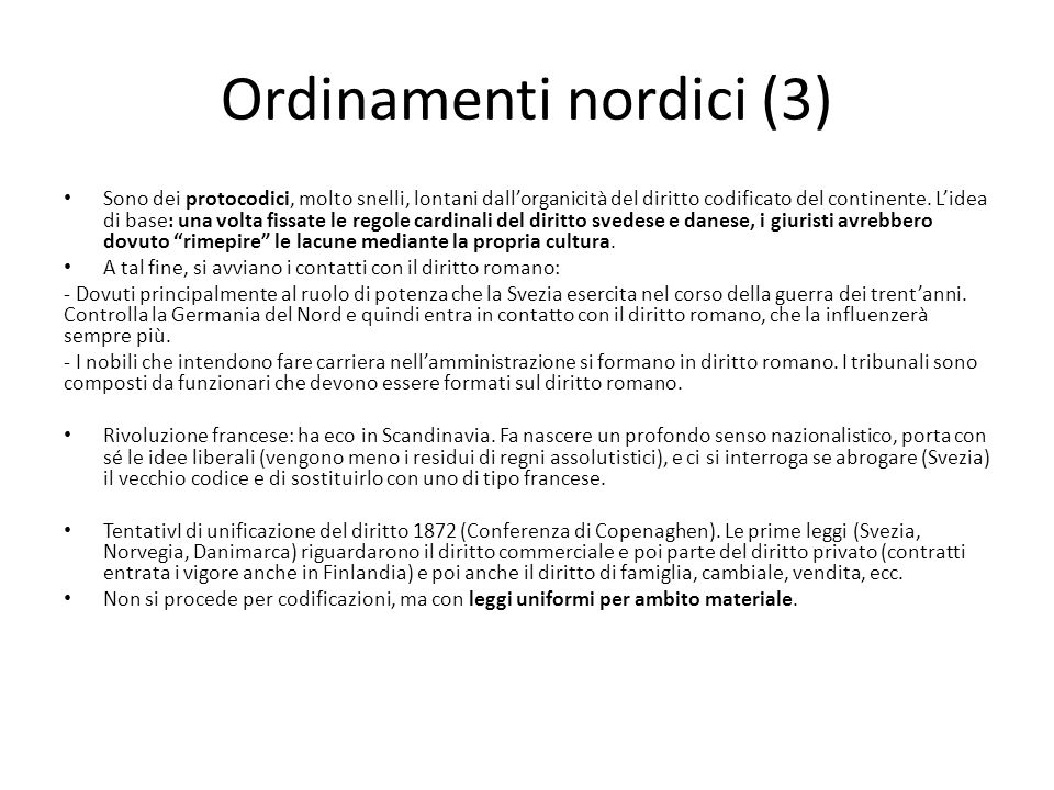 Ordinamenti nordici (3)