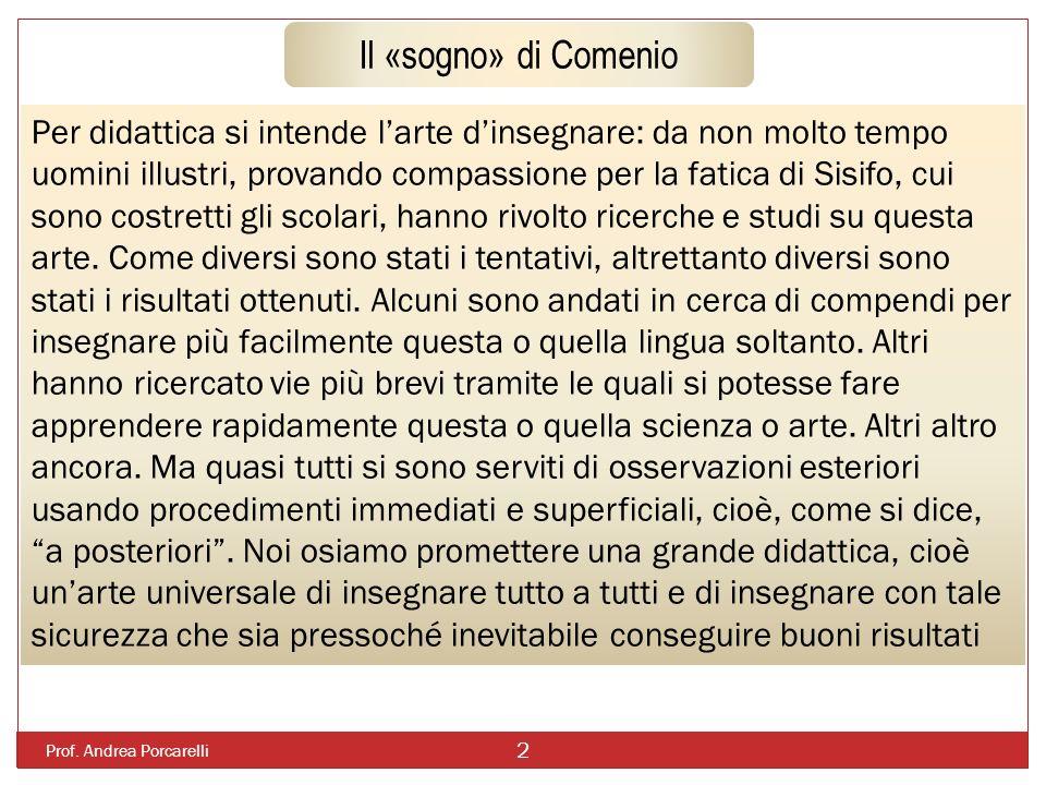 Il «sogno» di Comenio