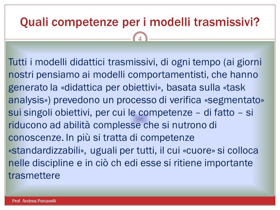 Quali competenze per i modelli trasmissivi
